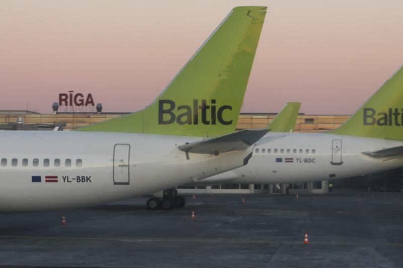 """""""AirBaltic"""" iš Rygos atšaukė 7 skrydžius"""