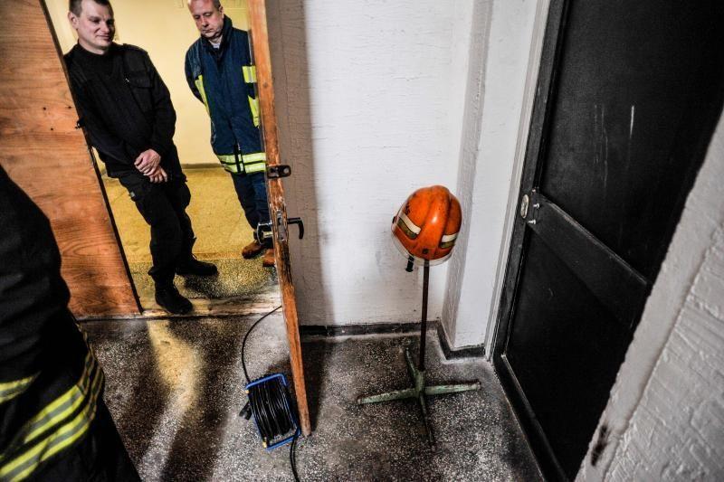 Dalis Ukmergės teisėjų posėdžiaus policijos komisariato patalpose