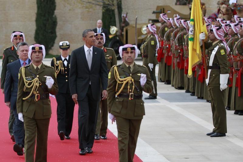 B. Obama žada Jordanijai 200 mln. dolerių Sirijos pabėgėliams padėti