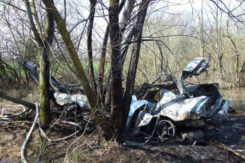 Kraupi avarija Jonavos rajone: automobilyje sudegė žmogus