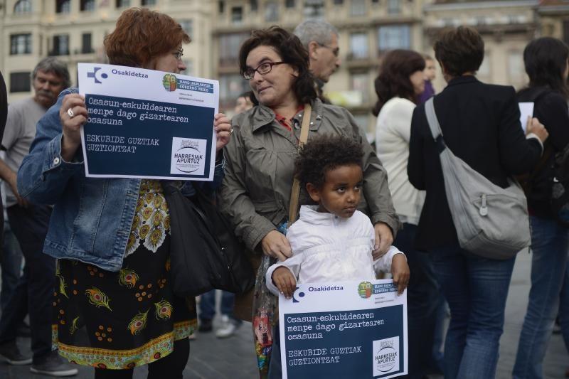 Ispanai protestavo prieš nemokamos sveikatos priežiūros panaikinimą