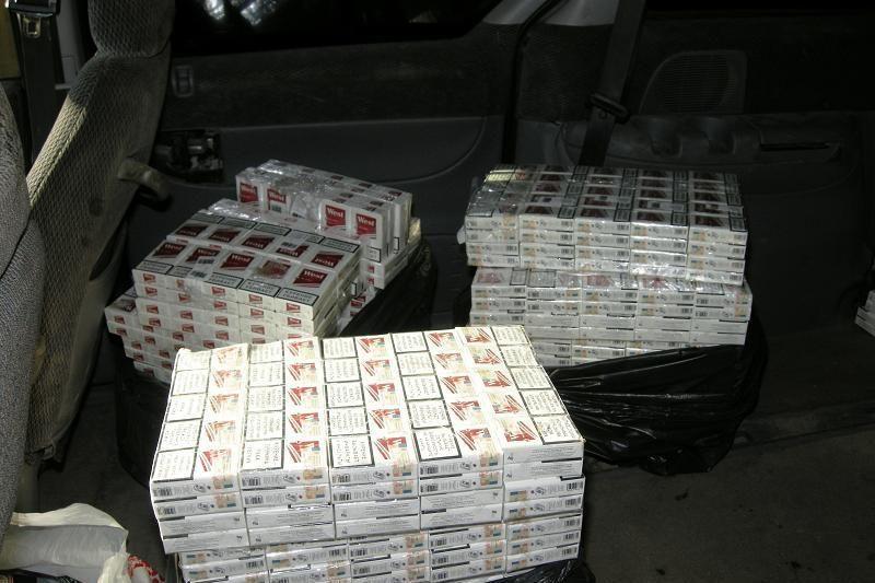 Marijampolėje demaskuoti kontrabandinių cigarečių sandėliai