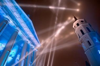 Kultūros šaukliai dažė sostinės dangų (video)