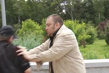 Palangoje E.Ostapenko užpuolė TV žaidimo filmavimo grupę