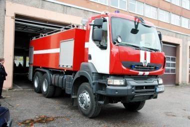 Klaipėdos gaisrininkams - nauja technika