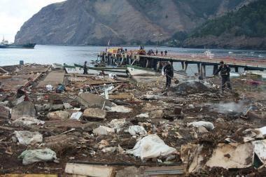 Čilėje dar kartą paskelbtas cunamio pavojus