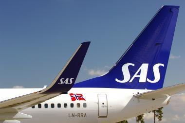 SAS atšaukė rytinį reisą iš Palangos į Kopenhagą
