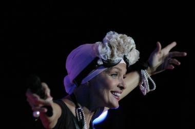 Pop scenos karalienė Laima Vaikulė sužavėjo Kauno publiką