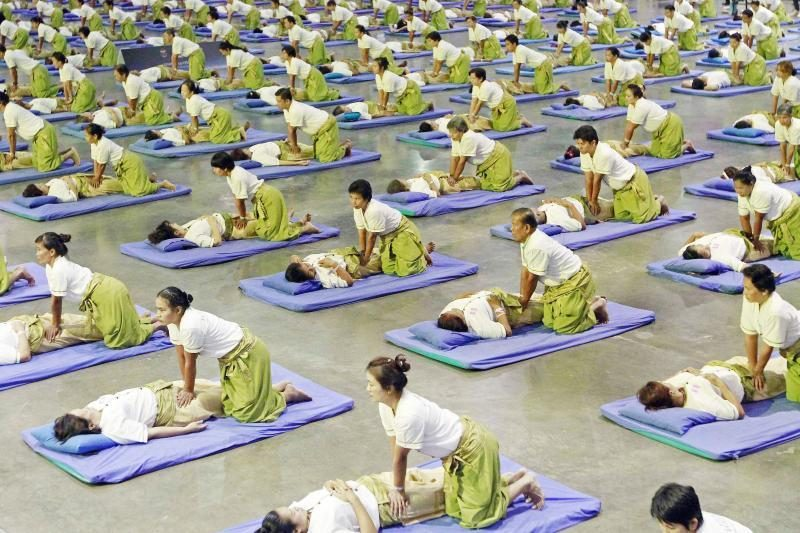Tailande pasiektas masinio masažo pasaulio rekordas
