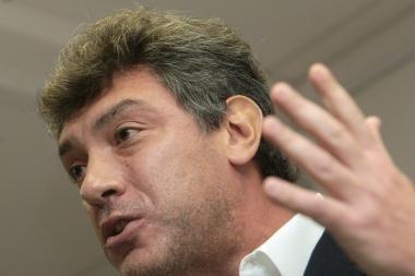 Maskvos Triumfo aikštėje sulaikytas Borisas Nemcovas