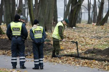 Skulptūrų parke rasta sprogmenų