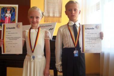 Jauniesiems šokėjams – Vokietijos čempionato sidabras