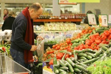 Žemės ūkio produkcija per metus atpigo 14 proc.