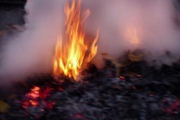 Lietuvoje degė apleisti pastatai ir miškai