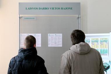 Nedarbas didžiuosiuose miestuose praėjusią savaitę - 12-16 proc.