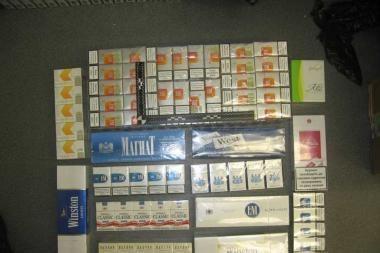 Garaže – kontrabandinių cigarečių pasirinkimas