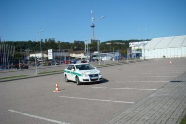 Policininkai varžėsi ralyje