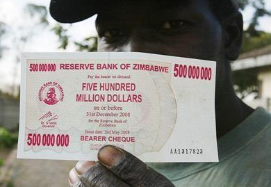 Už 100 mlrd. dolerių banknotą – 4 apelsinai
