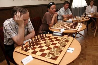 Kaune – aklasis šachmatų simultanas