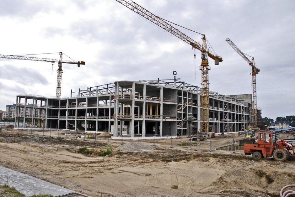 Klaipėdos arenos statytojai iškėlė vainiką
