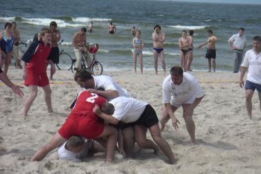 Paplūdimio regbio čempionais tapo