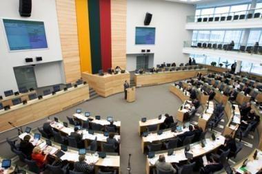 Seimas antradienį įvertins Vyriausybės veiklą