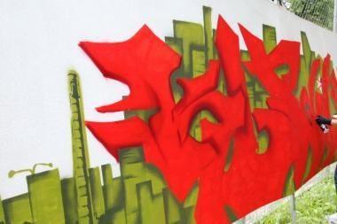 Sostinės darželiuose - grafitų piešiniai