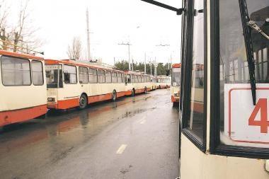 Troleibusų keleivių šiemet Vilniuje sumažėjo 9 proc.