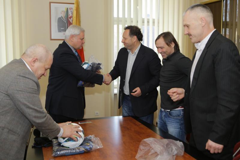 """Klaipėdos vadovai priėmė """"Atlanto"""" klubo atstovus"""