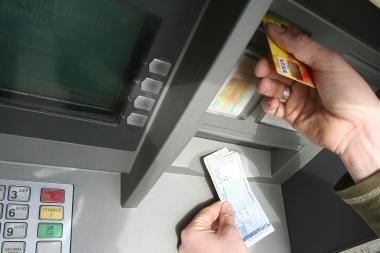 Mažeikiuose pavogtas bankomatas
