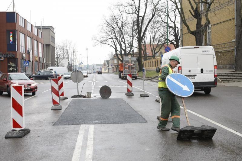 Naujojo Sodo gatvėje baigė tiesti kanalizaciją