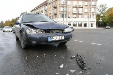 Į avariją pateko dvi klaipėdietės