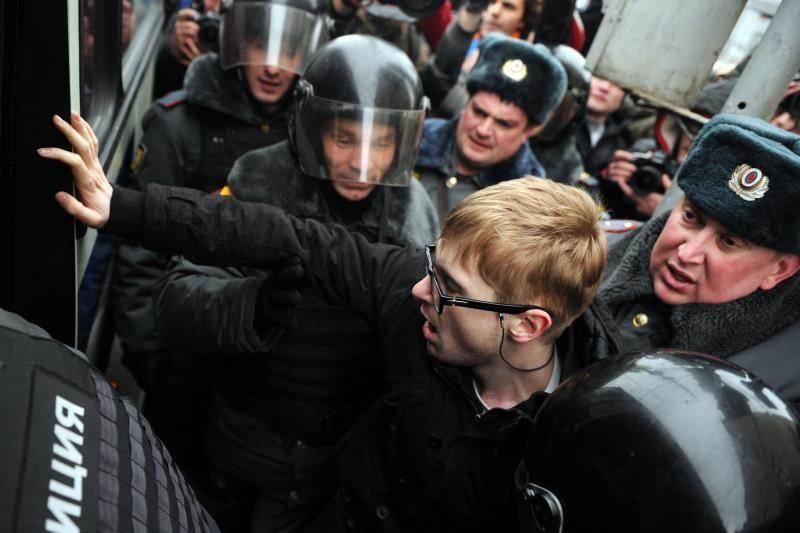 ES ragina Rusiją: leiskite žmonėms naudotis protesto teise