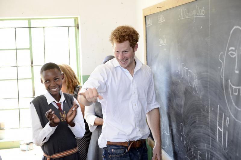 Princas Harry apsilankė Lesote, kur vykdo kelis labdaros projektus