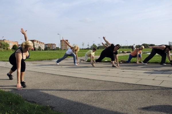Nemokamos mankštos - Debreceno gatvėje
