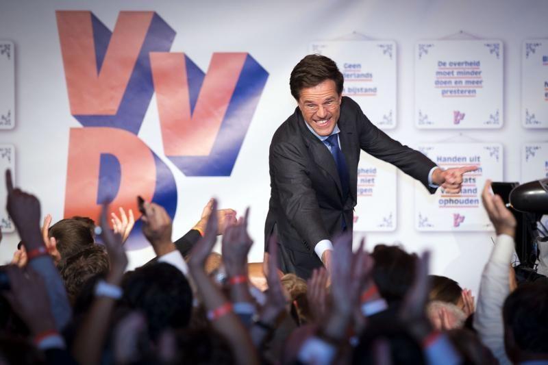 Nyderlandų premjeras M.Rutte sieks koalicijos su Darbo partija