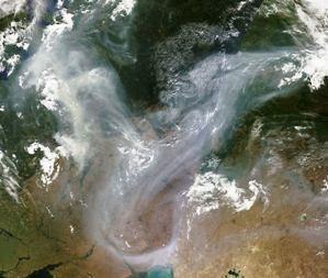 Rusijos gaisrai matomi ir iš kosmoso