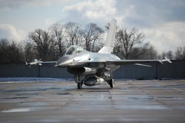 Du JAV naikintuvai buvo pakelti į orą dėl lėktuvo, priartėjusio prie prezidento orlaivio
