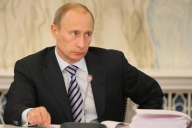 V.Putinas nurodė paskubinti dujų saugyklos statybą Kaliningrade