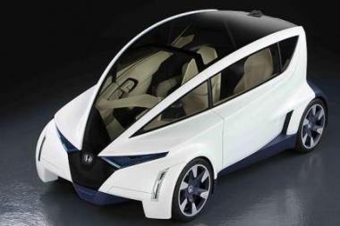 """""""Honda P-NUT"""" – miesto automobilis, atitrūkęs nuo realybės"""