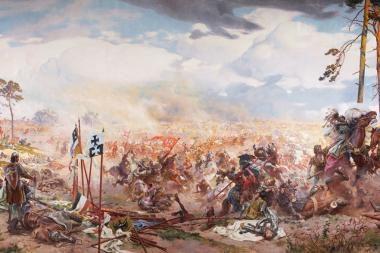 Vilniuje pristatomas didžiausias kada nors šalyje rodytas Žalgirio mūšio paveikslas