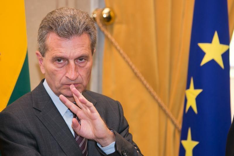 Į Lietuvą šią savaitę atvyks ES energetikos komisaras G. Oettingeris