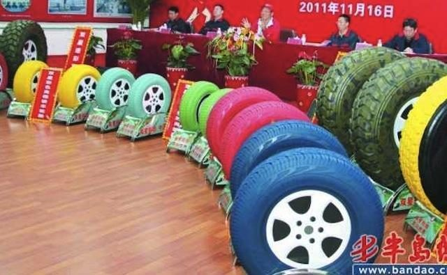 Kinijoje bus gaminamos spalvotos padangos