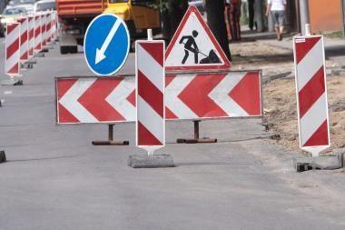 Remontuojama K.Petrausko gatvė