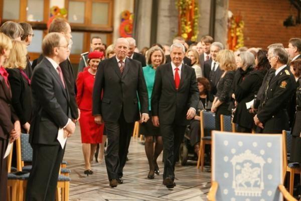 Nobelio taikos premijos teikimas: laureato vietoje - tik jo nuotrauka