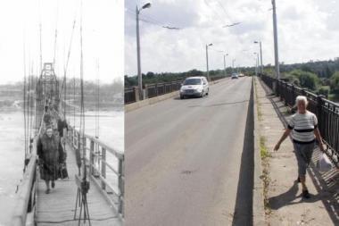 Anksčiau ir dabar: kaip atrodė Panemunės tiltas?