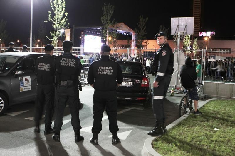Uostamiestyje policija tramdė krepšinio sirgalius