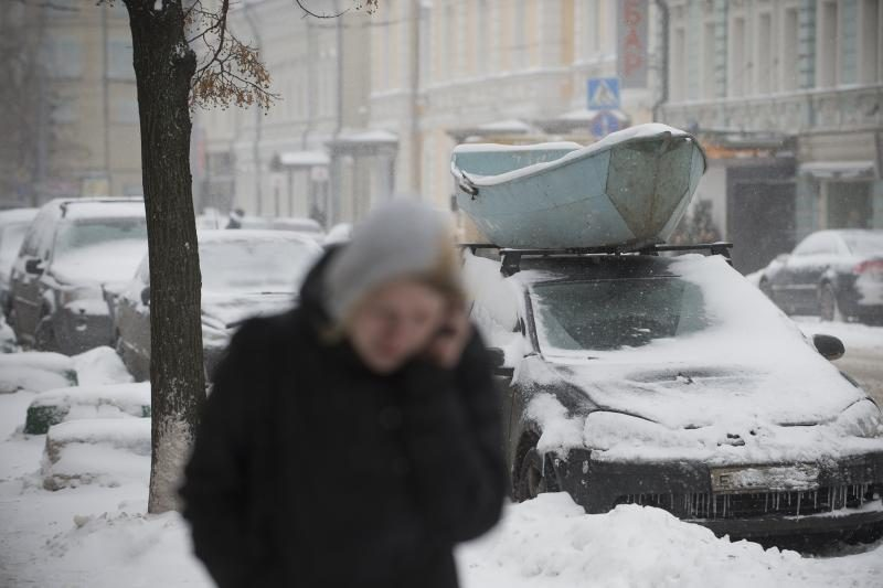 Maskvą užklojo daugiausiai sniego per 50 metų