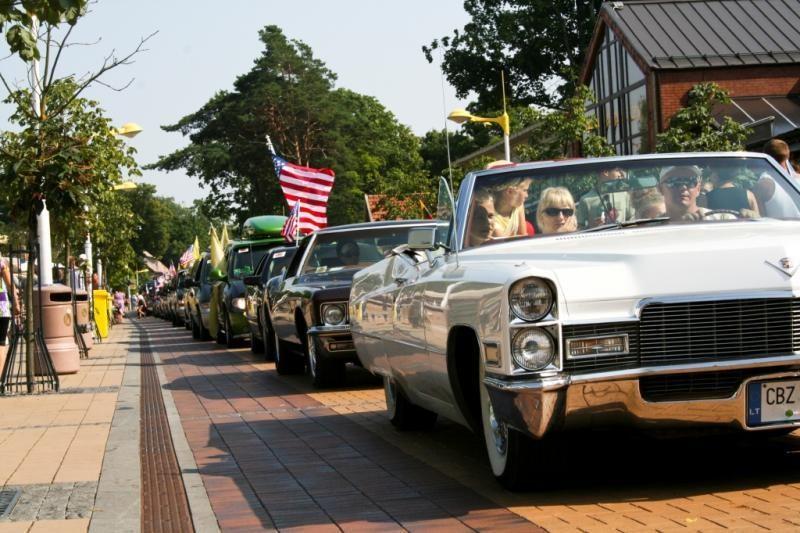 Amerikietiškų automobilių mėgėjai šturmuos Palangą