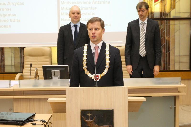 A.Kupčinskas kukliai inauguruotas Kauno meru